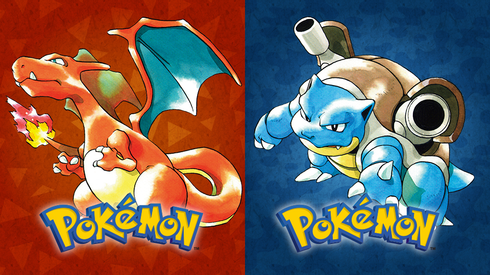 Image result for pokemon red and blue